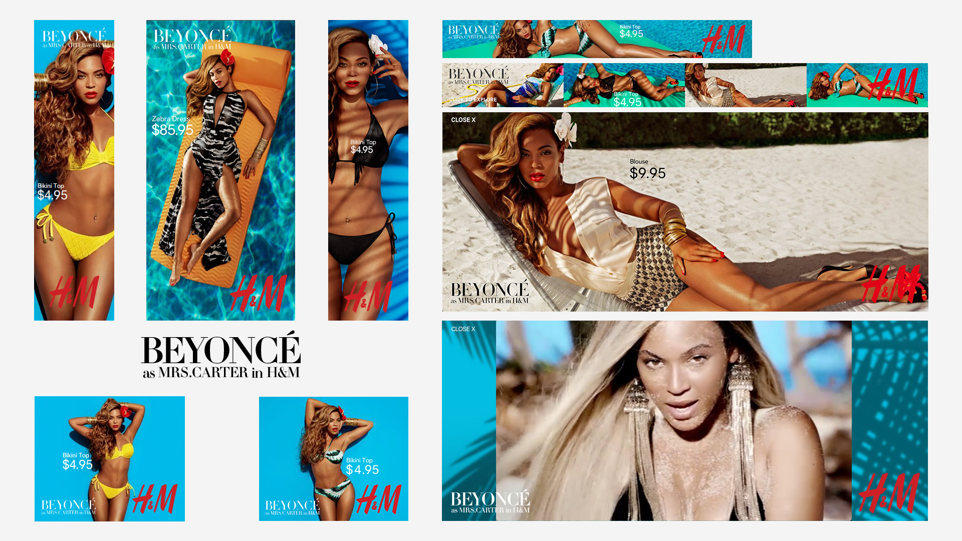 Beyoncé collaberation with H&M for H&M's summer campagin