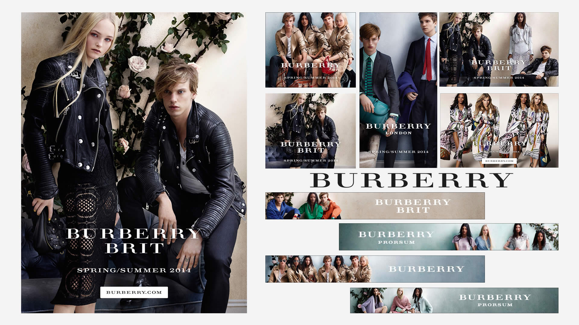 Burberry spring through summer campaign