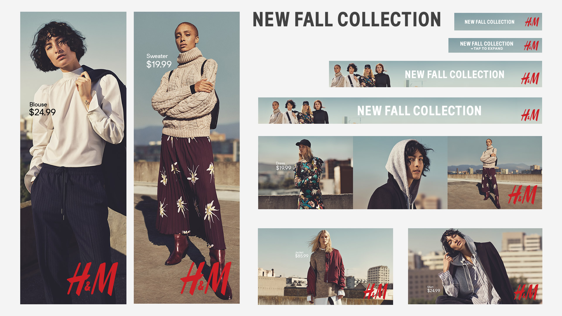 Fall Fashion 2016 digital campaign for H&M