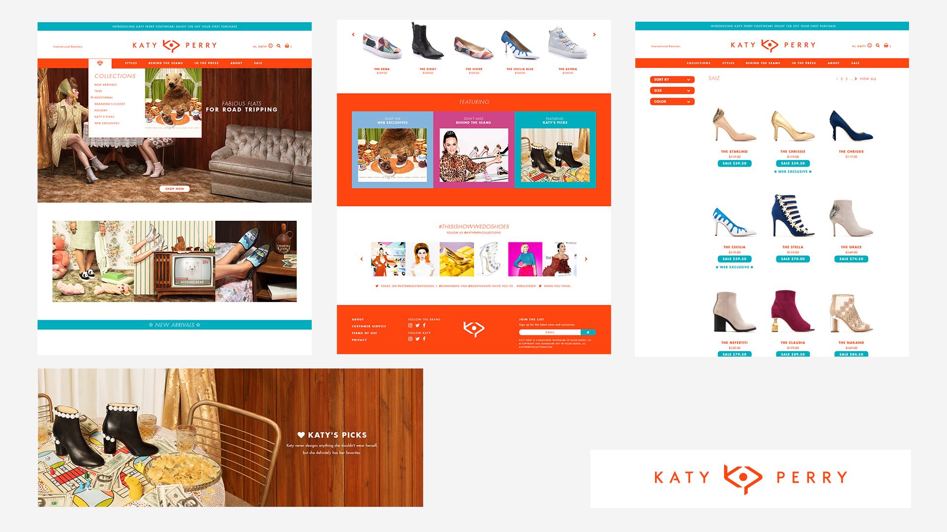 Created fall website for the Katy Perry Shoe brand.