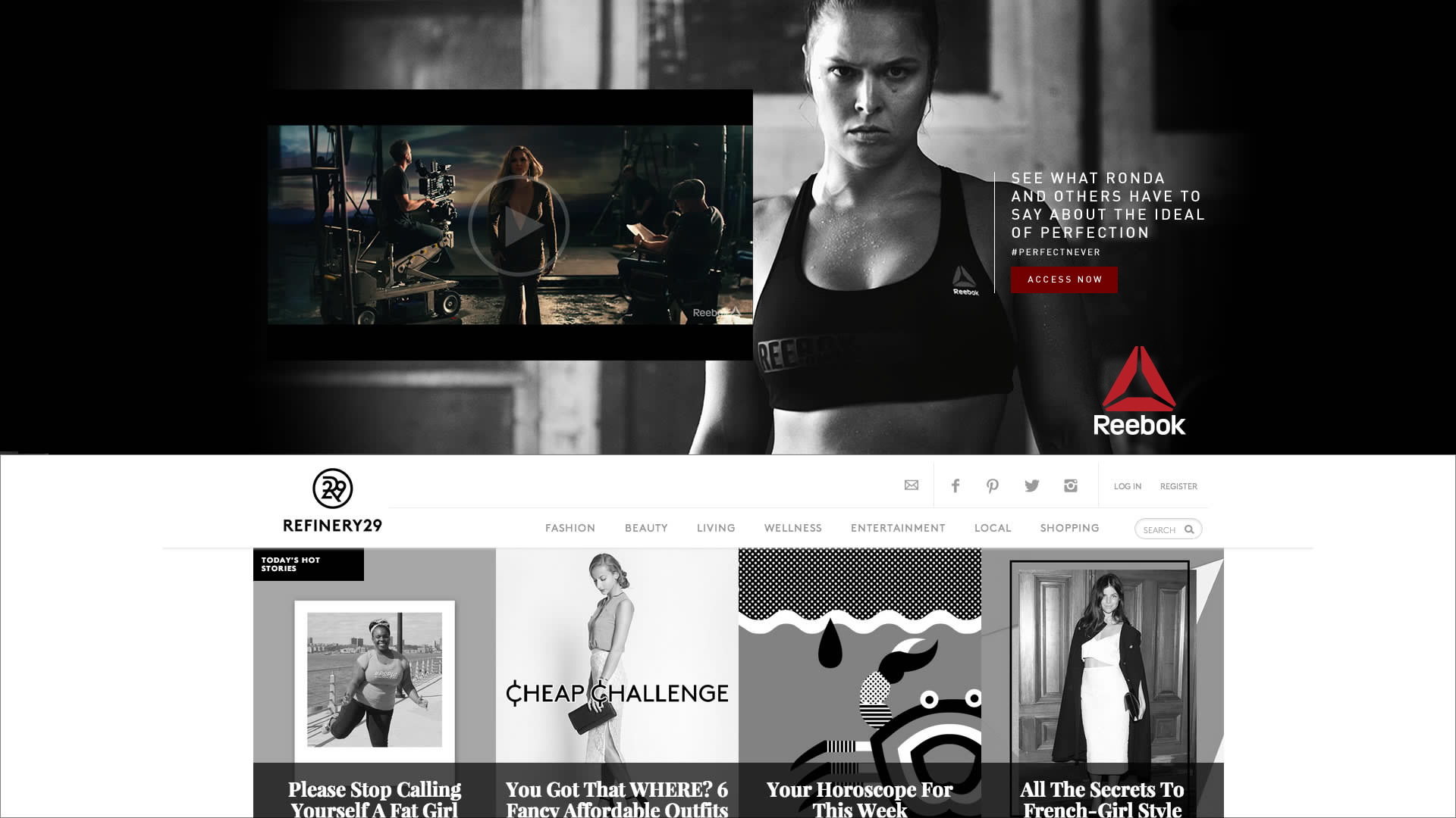 Ronda Rousey collaberation with Reebok for , the perfect never campaign
