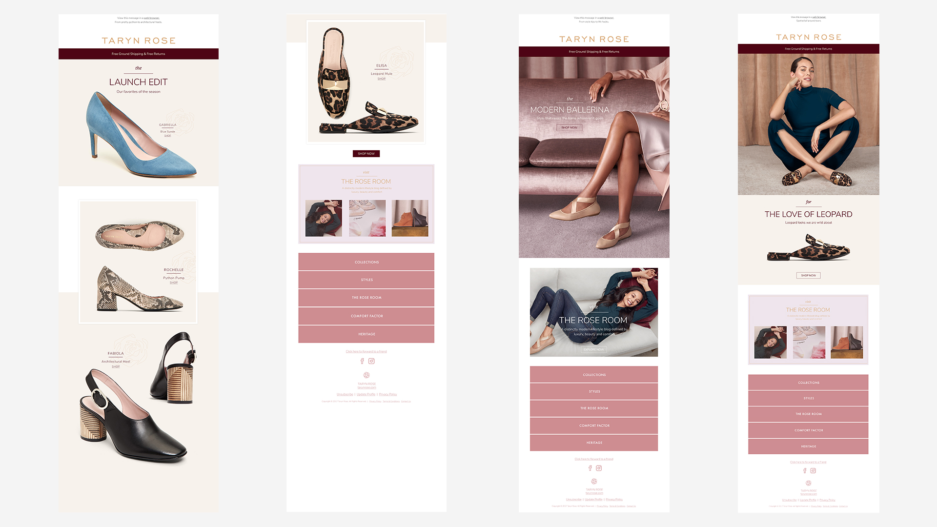 Collaberated with the marketing team as an Art Diretor, to create compelling e-commerce material for the Taryn Rose brand..